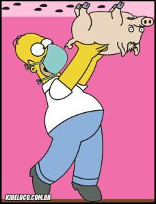 homer-simpson-porco-gripe-suina